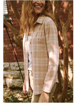 faherty legend sweater shirt in tuscany hillsboro plaid